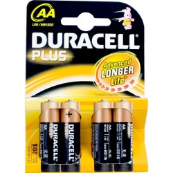 Duracell piles aa 4 pièces...